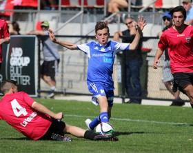 Jayden Esposito in action against Whittlesea Ranges in the 2015 NPL Under 13s Grand Final