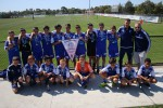 South Melbourne with their medals and club pennant for 2015 NPL East Under 13 Champions