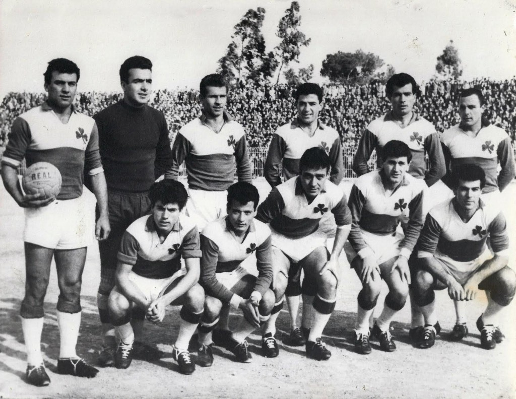 Late 1950s: Takis Mantarakis and Jim Pyrgolios with Greek giants Panathinaikos.