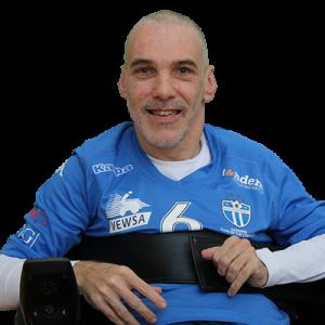 All Abilities Football - South Melbourne FC Powerchair Footballer Craig Kilby