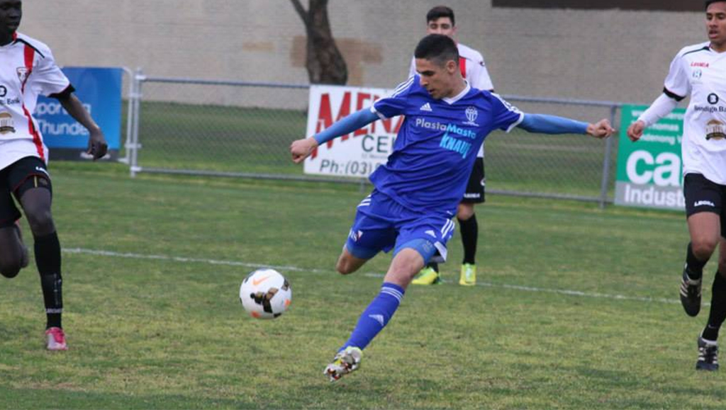 In one of his last matches at South Melbourne, Zinni scored a hat-trick at George Andrews Reserves as the Under 20s defeated the Thunder 0-4.